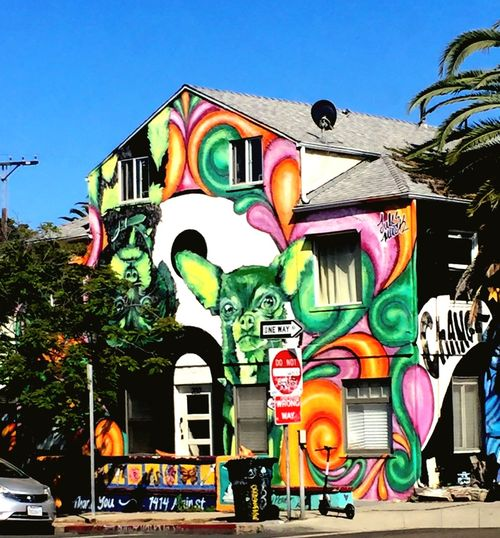 Painted wall Art is Everywher Artistic Expression Tree Trunk Painted Wall House Representation Built Structure Architecture Multi Colored Building Exterior The Street Photographer - 2018 EyeEm Awards No People Graffiti Mural