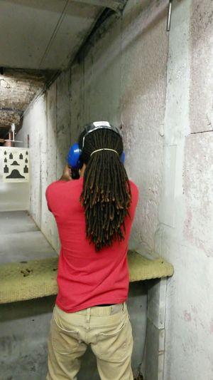 GunRange Guns Shooter 38 Special Street Fashion Urban Fashion Dreadhead RASTA That's Me Happy People