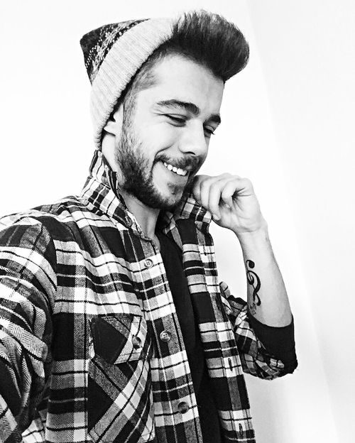 Blackandwhite Black Black And White Lifestyles Smiling Men One Man Only Music Young Adult Young Men One Young Man Only Beard Happiness One Person Toothy Smile Real People Only Men Cheerful Music Hipster - Person Confidence  Standing Portrait White Background