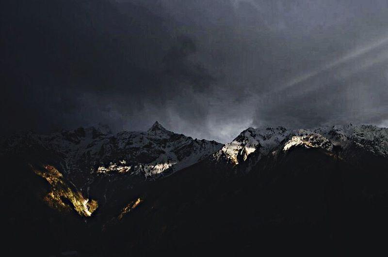 Darkmatters Dark Sunlight Shadow Cloud Sky And Clouds Grey Storm Kalpa Kinnur Himachalpradesh India