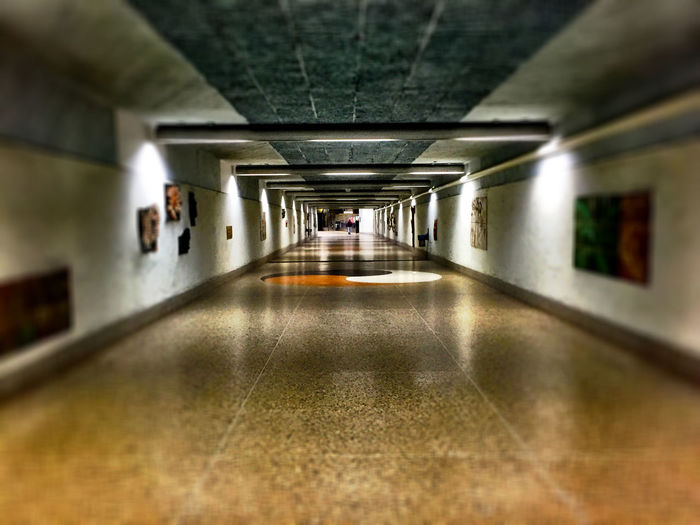 Interior of empty corridor