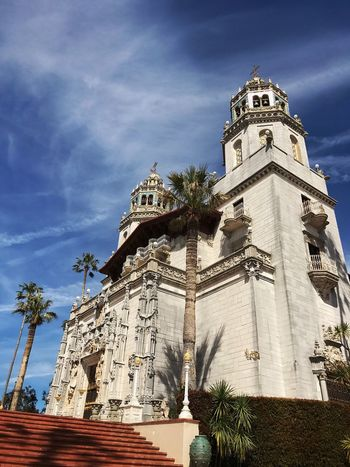 Hearst Castle Architecture Building Exterior Built Structure Low Angle View Sky Outdoors Tree Palm Tree White Structure