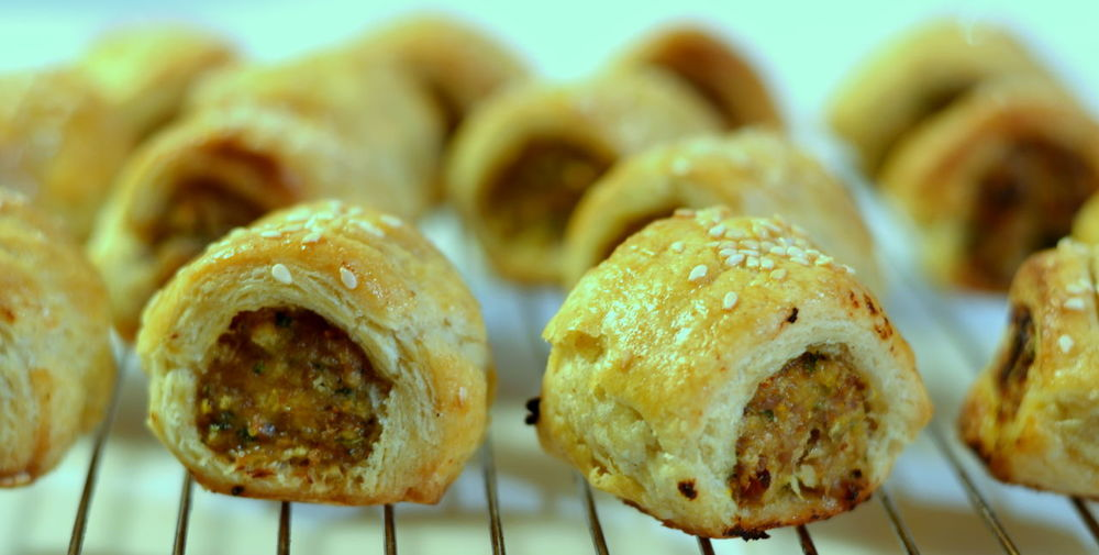 Sausage Roll Appetizers, bite-sized pieces. Appetiser Appetizer Appetizers Baked Bite-size Bread British Cuisine British Culture Brown Close-up Comfort Food Dessert Finger Food Focus On Foreground Food Food And Drink Lunch Ready-to-eat Sausage Sausage Roll Sausage Rolls Snack Snack Still Life
