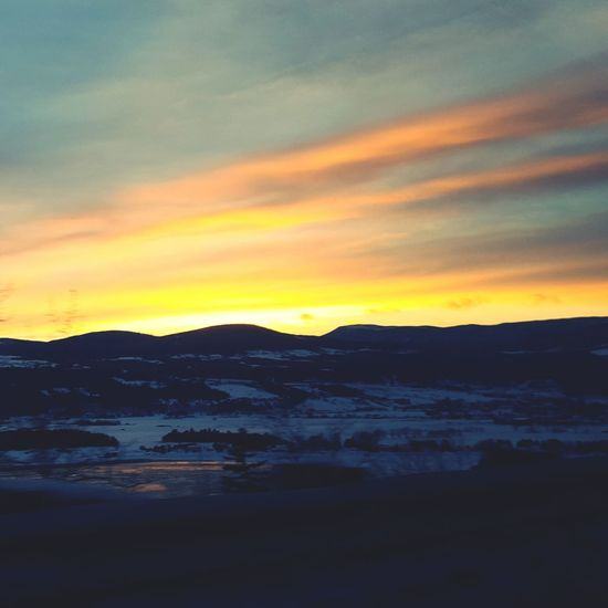 Landscape Sunset Nature Beauty In Nature Social Issues Water Winter Cloud - Sky Sky No People Cold Temperature Snow Tree Outdoors Scenics Landscape Business Finance And Industry Extreme Weather Day EyeEmNewHere