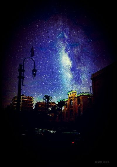 Imagination NightSky No People Building Exterior City Cairo City Cairo Egypt Downtown Built Structure Illuminated Outdoors Silhouette Architecture Nature Cityscape Star - Space Edited Creative Edit Night Out Blue Night Sky Palm Creative Light And Shadow Taking Photos