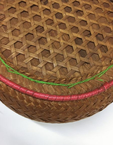 Close up of basket weave texture Wicker Basket Whicker Thai Rice Box Texture Handmade Indoors  No People Close-up Day
