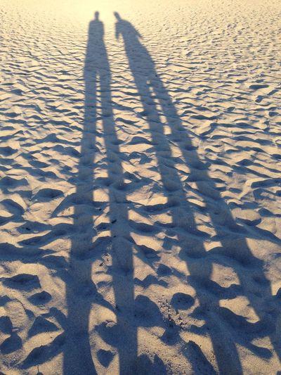 Enjoying The Sun Sunset Sea Hi! Beach Shadow Sand
