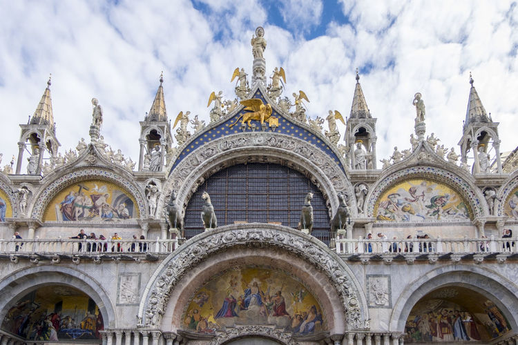 Arch Architecture Building Exterior Built Structure Cloud - Sky Day Façade No People Outdoors Place Of Worship Religion Sculpture Sky Spirituality Statue Travel Destinations