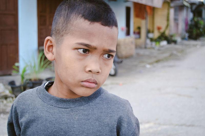 Close-up portrait of boy