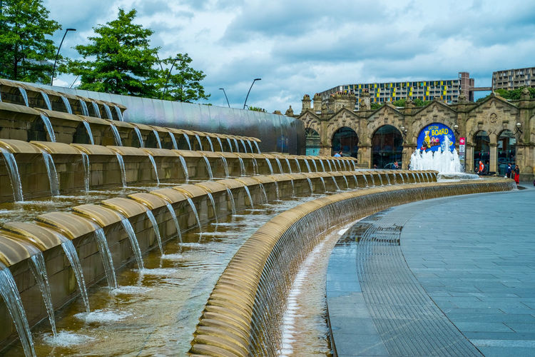 Sheffield Travel Yorkshire Arch Architecture Arts Culture And Entertainment Building Exterior Built Structure City Cloud - Sky Day England Flowing Water History In A Row Nature No People Outdoors Sky Street Streetphotography Swimming Pool The Past Tourism Travel Destinations Tree Water