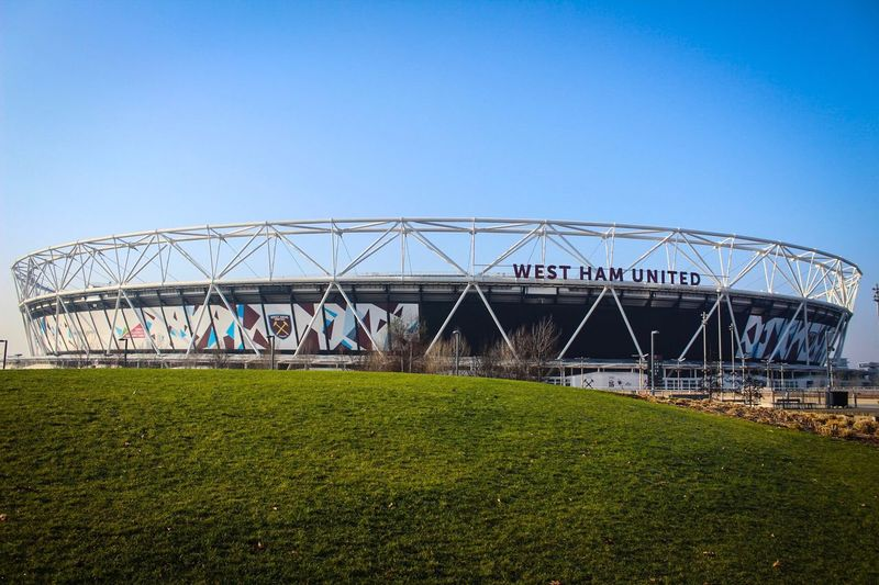 Clear Sky Blue Built Structure Plant Day Grass Architecture Bridge - Man Made Structure Growth Green Color Outdoors Connection No People Nature Greenhouse Sky This Week On Eyeem EyeEm Best Shots EyeEm Gallery Olympic Park  London Lifestyle London West Ham Utd