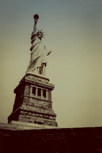 Scanned Photo Harbour Grainy Statue Travel Destinations Sculpture Female Likeness Human Representation Architecture History Low Angle View Travel Tourism Outdoors Monument Sky No People Clear Sky Day Built Structure Statue Of Liberty New York City USA Photos