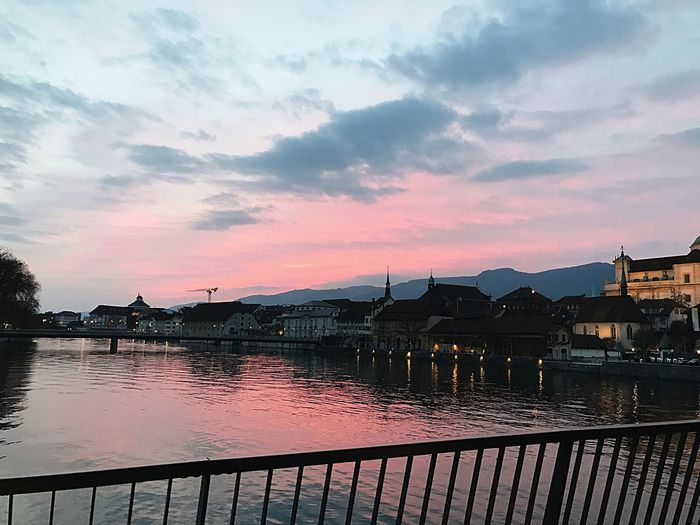 The old city of Solothurn at its best! Water River Sunset Solothurn First Eyeem Photo