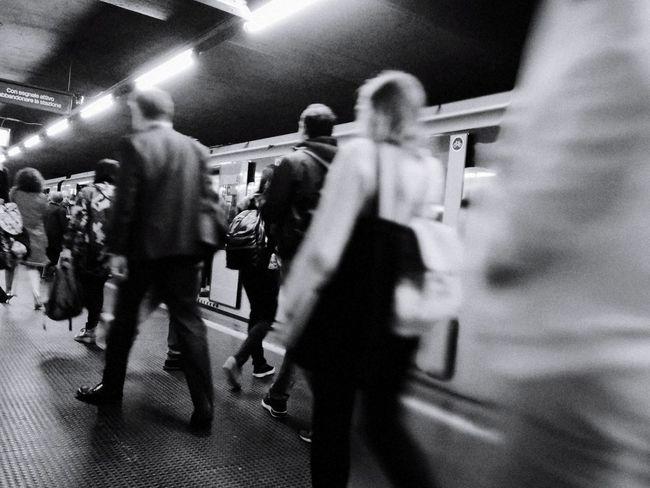 Metro movement 02 Metro Milano Milan Cadorna EyeEmNewHere Crowd Motion Full Length Women Arts Culture And Entertainment Men Blurred Motion The Street Photographer - 2018 EyeEm Awards