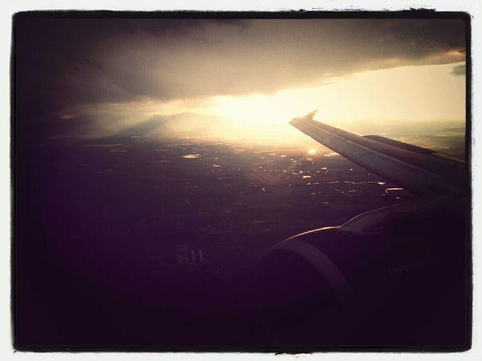 Arialview Airplane Mountain Sunset