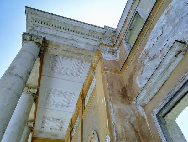 Ancient Ancient Civilization Architectural Column Architecture Building Exterior Built Structure Close-up Day History Low Angle View No People Outdoors Sky Text