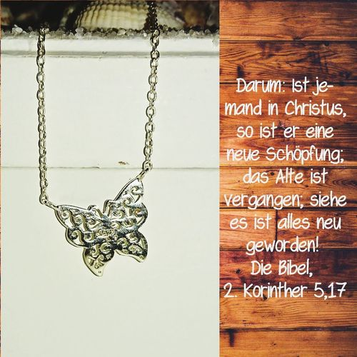 www.cbrowny.wixsite.com/koenigskind Blogging Blog Post Bible Verses Butterfly ❤ Halsketten No People Necklace