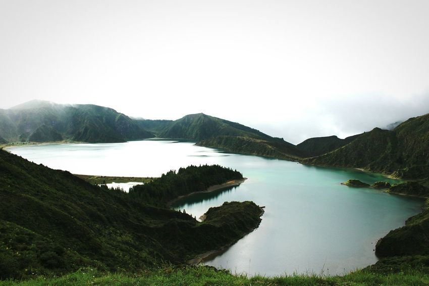 Landscape Water Nature Mountain Beauty In Nature Scenics No People Outdoors Sky Day Lagoon Lagoa Do Fogo Azores, S. Miguel Photography Portugalcomefeitos My Year My View