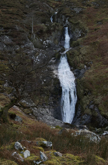 This is a smaller waterfall about a 5 minute walk from the larger Aber Falls. I think this is called Rhaeadr Bach Welsh Countryside Wales Water Close-up Countryside Flowing Water Tranquil Scene Waterfall Flowing Rushing