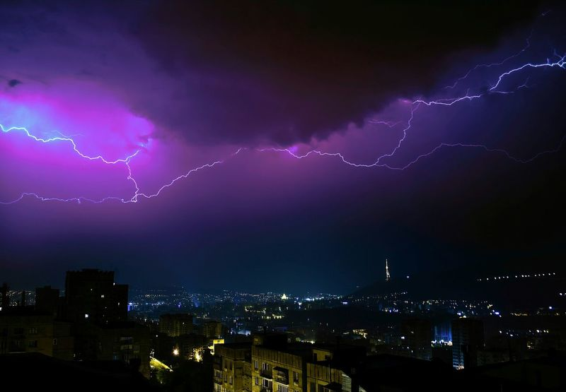 Tbilisi Georgia Lightning