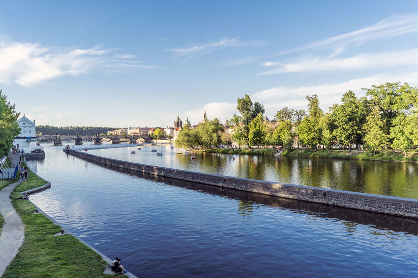 Views of the main monuments and streets of Prague, in the Czech Republic Amazing Architecture Beauty In Nature Building Exterior Built Structure City Cloud - Sky Day European  Landscape Medieval Architecture Nature No People Outdoors Prague Czech Republic River Sky Street Tourism Destination Tree Water