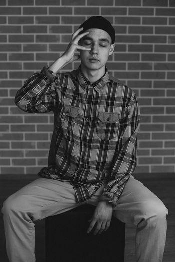 Portrait of young man Fashion Man Natural Natural Beauty Portraits Studio Young Black Blackandwhite Boy Emotion Emotional Fashion Photography Handsome Mammal Men Mensfashion Menswear One Person Portrait Portrait Photography Real People Studio Photography Studio Shot Window Light EyeEmNewHere