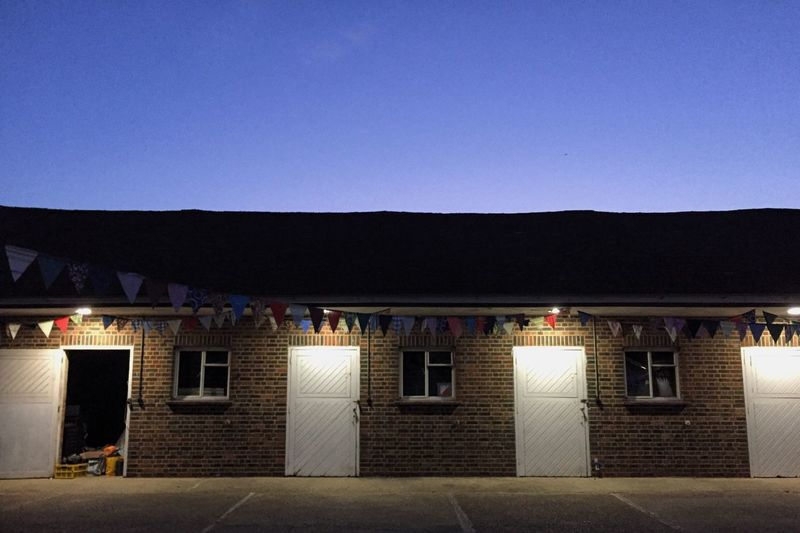 Bunting Flags Barn Stable Dusk British Found On The Roll