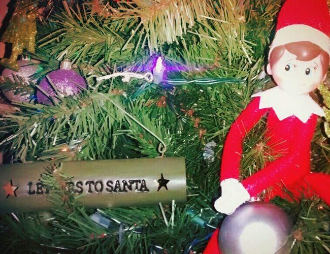 Elf on a shelf made it home!!! :) Christmas Elf On The Shelf