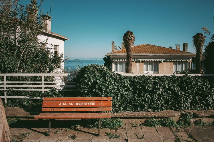 Bench in an