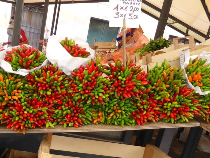 Chillies for sale, Venice Italy Rialto Market Chillies Healthy Eating Food And Drink Food Freshness Market Fruit Wellbeing