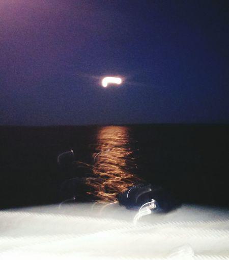 Wierd moon Taking Photos Nature Summer Views Fresh Air Full Moon Beautiful Darkness Boat Ride