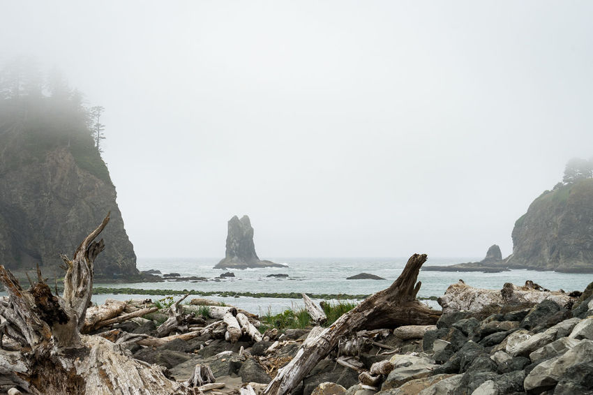 Foggy bay Beauty In Nature Copy Space Day Fog Land Nature No People Non-urban Scene Outdoors Rock Rock - Object Rock Formation Rocky Coastline Scenics - Nature Sea Sky Solid Stack Rock Tranquil Scene Tranquility Water