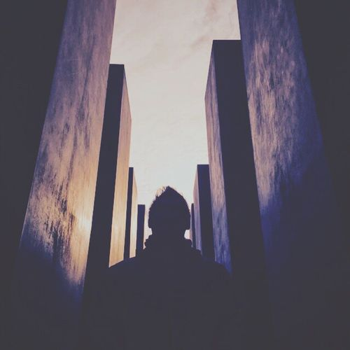 Real People One Person Architecture Silhouette Building Exterior Lifestyles Sky Built Structure Sunset Men Outdoors Day Adult People First Eyeem Photo