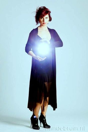 Energy Qi Reiki Energy Qi Energy Work Adult Women Full Length One Person Fashion Studio Shot Young Adult