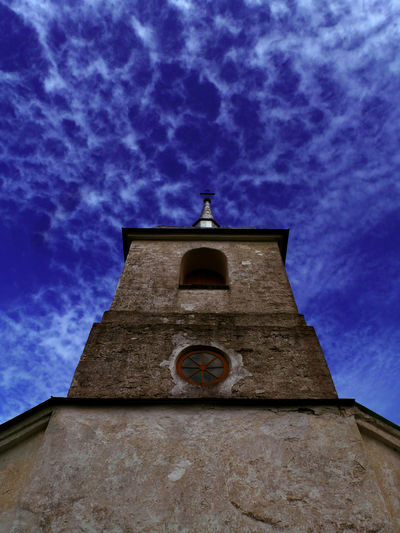 Michael Lindt Architecture Baltic Sea Bell Tower Blue Sky Building Exterior Built Structure Church Exterior Cirrus Cirrus Clouds Cloud - Sky Dramatic Sky Est Estate Heaven Low Angle View No People Spirituality