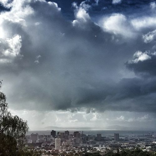 Capetown Travel View MannaBay clouds cloudPorn stormy cityscape skyline instaTravel
