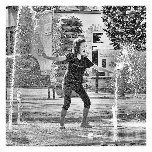 Piotr Adamczyk Photography Architecture Auto Post Production Filter Child Childhood Day Enjoyment Full Length Fun Girls Happiness Innocence Leisure Activity Lifestyles Motion Nature One Person Outdoors Positive Emotion Real People Spraying Transfer Print Water