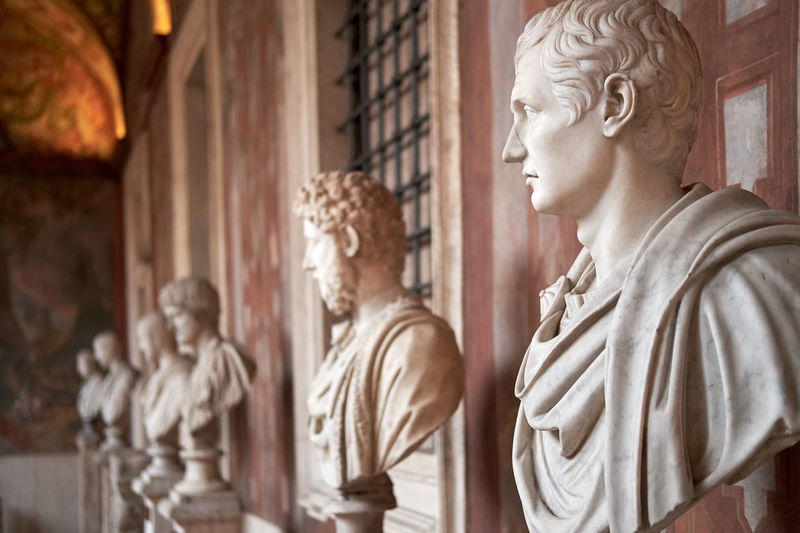 Roman busts Human Representation Sculpture Statue Male Likeness Art And Craft Representation Architecture Religion Craft Spirituality The Past History Belief Built Structure Place Of Worship Creativity Building Travel Destinations Carving - Craft Product No People Architectural Column