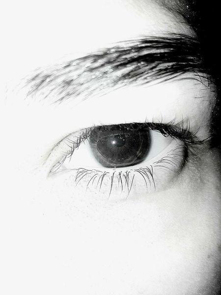 Black & White Angry Eye Closeupshot