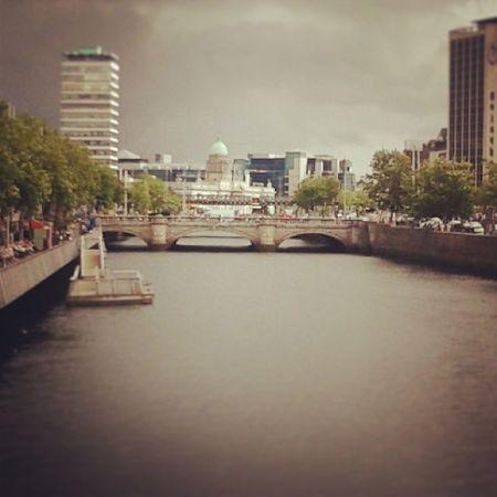 The Liffey River Dublin Liffeybridge