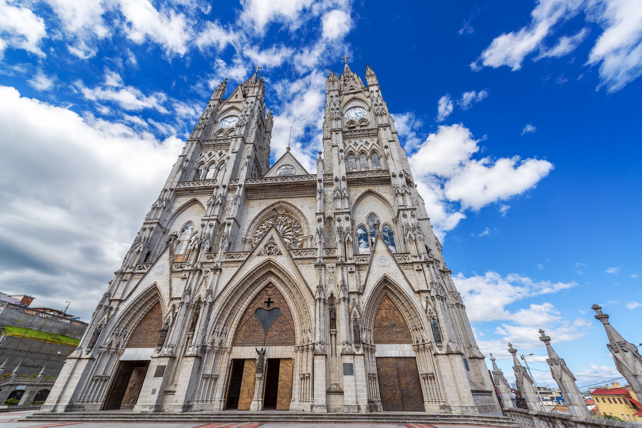 Low Angle View Of Basilica Of The National Vow Against Sky In City