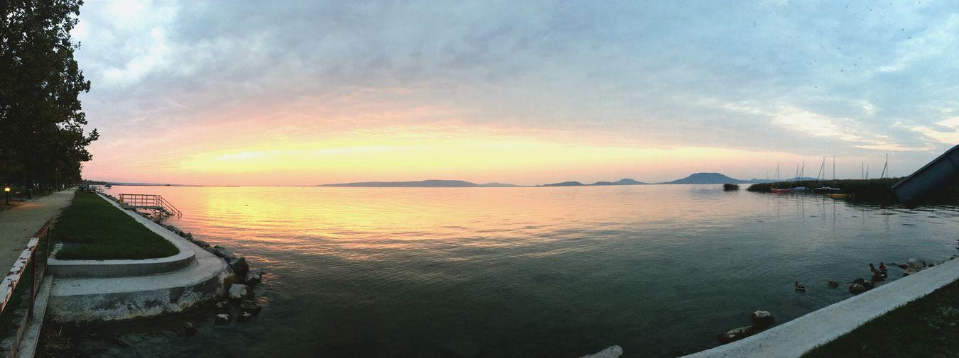 ❤️ Sunset Water Balaton - Hungary Panoramic Balaton Balatonfenyves Lake