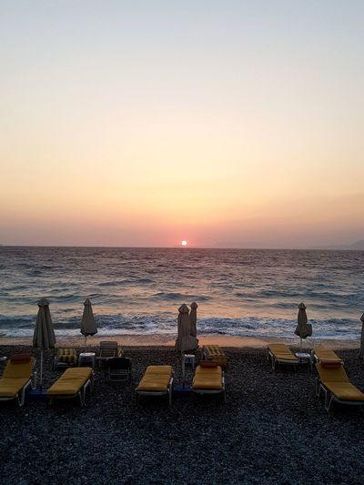 Rhodes Rhodos Beach Sunset Nature Travel Destinations Greece Greek Summer Ocean
