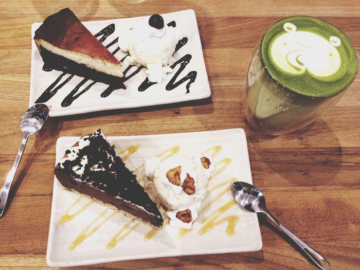 Matcha Latte Brownie Earl Grey Chocolate Mousse Yummy♡ Sweet I Love It ❤