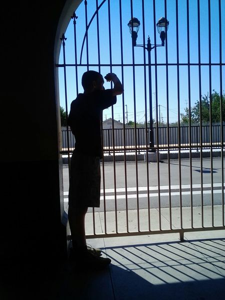 Creative Light And Shadow Waiting on the train. Amtrak Train Cousin LoveForTrains Downsyndrome