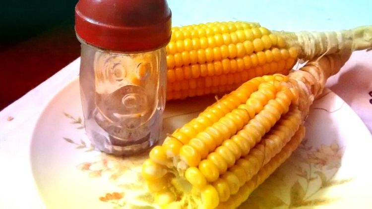 Corn Salt boile Boiled Corn Glutton Organic Food Healthy Eating Two Is Better Than One