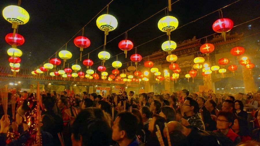 Believe. By LG G6+. Hong Kong Temple Wong Tai Sin Chinese Celebration Lighting Equipment Large Group Of People Crowd Night Illuminated Traditional Festival Chinese New Year Hanging Celebration Event Nightlife Chinese Lantern Festival Men Adult Adults Only Women Arts Culture And Entertainment People