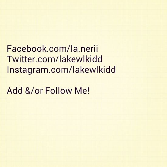 You know what to do (: