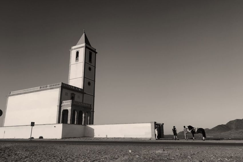 Andalusien Beach Church EyeEm Selects Real People Men Built Structure Women Leisure Activity Lifestyles Architecture Low Angle View Day