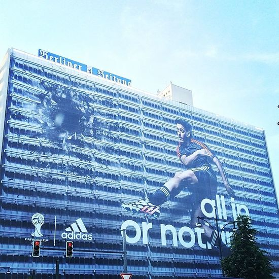 All in or nothing. #berlin #berlinigers #adidas #ad #creative #banner #wm #wm2014 #soccer